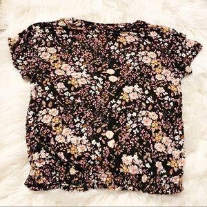 Floral Smocked Shirt